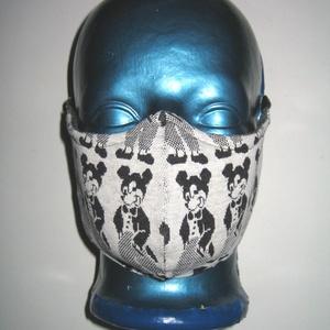 Orrmerevítős szájmaszk fülre akasztható arcmaszk textil maszk Mikiegér, Maszk, Arcmaszk, Női, Varrás, Újrahasznosított alapanyagból készült termékek, Meska
