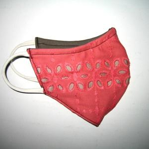 Lazac színű madeira orrmerevítős szájmaszk fülre akasztható arcmaszk  textilmaszk  - Meska.hu