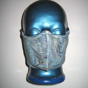Egyedi orrmerevítős szájmaszk  fülre akasztható arcmaszk textilmaszk Hullámok - Meska.hu