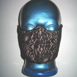 Csipke szájmaszk szemüvegeseknek orrmerevítős arcmaszk 2in1 textil maszk  - Meska.hu