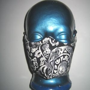 Egyedi szájmaszk orrmerevítős arcmaszk fülre akasztható védő maszk , Maszk, Arcmaszk, Női, Varrás, Újrahasznosított alapanyagból készült termékek, Meska