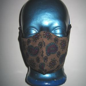Egyedi szájmaszk fülre akasztható arcmaszk textil maszk Kasmír mintás, Maszk, Arcmaszk, Női, Varrás, Meska