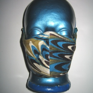 Egyedi Szájmaszk arcmaszk fülre akasztható 2in1 textil maszk páva, Maszk, Arcmaszk, Női, Varrás, Meska