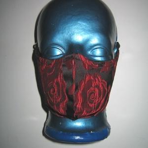 Elegáns orrmerevítős szájmaszk fülre akasztható brokát arcmaszk 2in1 textil maszk Rózsás, Maszk, Arcmaszk, Női, Varrás, Meska
