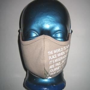 Egyedi szájmaszk fülre akasztható arcmaszk 2in1 textil maszk Nowaste maszk  - Meska.hu