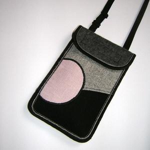 Mobiltok szabályozható pánttal Plusz-os méretű telefonokhoz  XL-es tok nyakba akasztható kistáska , Táska & Tok, Pénztárca & Más tok, Telefontok, Varrás, Mindenmás, Meska