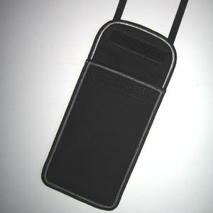 Elegáns Mobil Tok állítható pánttal  XL telefon tartó  oldaltáska iPhone kistáska fekete-ezüst - táska & tok - kézitáska & válltáska - vállon átvethető táska - Meska.hu