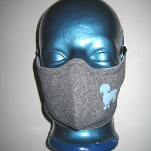 Kutyás szájmaszk fülre akasztható orrmerevítős arcmaszk textil maszk Tacskó, Maszk, Arcmaszk, Női, Varrás, Mindenmás, Meska