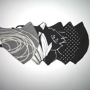 Családi maszk csomag drótos fülre akasztható arcmaszk 5 db textil szájmaszk   - Meska.hu