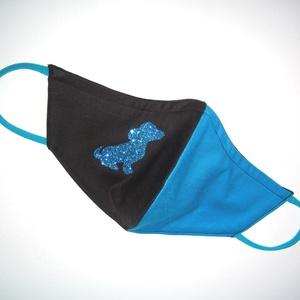 Egyedi szájmaszk fülre akasztható  arcmaszk textil maszk csillogó kutya, Maszk, Arcmaszk, Női, Varrás, Mindenmás, Meska