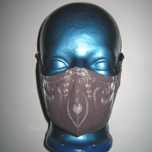 Egyedi szájmaszk fülre akasztható hímzett arcmaszk elegáns textilmaszk  - maszk, arcmaszk - női - Meska.hu