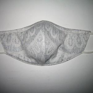 Ezüstösen csillogó szájmaszk fülre akasztható arc maszk  elegáns textilmaszk   - Meska.hu