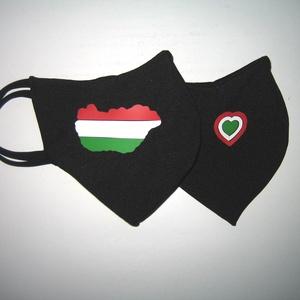 Szájmaszk fülre akasztható arcmaszk nemzeti 2 db textilmaszk  Magyarország  - Meska.hu