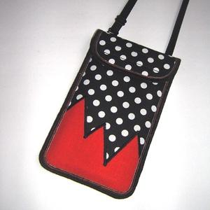Mobiltok állítható pánttal  XL telefon tartó nyakba akasztható pöttyös, Táska & Tok, Pénztárca & Más tok, Telefontok, Varrás, Meska