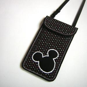Állítható pántos mobil tok  Plus-os méretű telefonokhoz  Mickey egér, Táska & Tok, Pénztárca & Más tok, Telefontok, Varrás, Mindenmás, Meska
