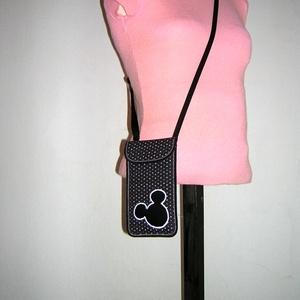 Állítható pántos mobil tok  Plus-os méretű telefonokhoz  Mickey egér - táska & tok - pénztárca & más tok - telefontok - Meska.hu