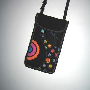 Zsebes telefontok állítható pánttal  XL telefon tartó Nyakba akasztható kistáska Színes, Táska & Tok, Pénztárca & Más tok, Telefontok, Varrás, Patchwork, foltvarrás, Meska