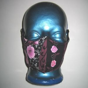 Egyedi orrmerevítős szájmaszk  fülreakasztható arcmaszk textilmaszk virágos - Meska.hu