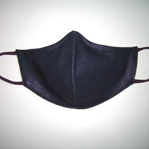 Metálfényű szájmaszk orrmerevítős fülre akasztható maszk exkluzív csillogó textilmaszk lila-kék - Meska.hu
