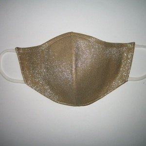 Esküvői arany maszk fülre akasztható szolidan csillogó elegáns szájmaszk - Meska.hu
