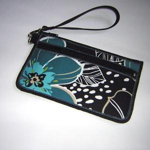 Csuklótáska Mobiltok  cipzáros zsebbel XL telefon tartó virágos neszi pénztárca , Táska & Tok, Pénztárca & Más tok, Telefontok, Varrás, Meska