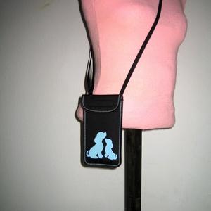 Állíthatópántos mobiltok  Plus-os méretű telefonokhoz  XL-es tok nyakba akasztható kistáska Kutya és kölyke - táska & tok - pénztárca & más tok - telefontok - Meska.hu
