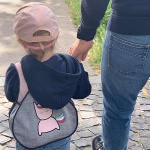 Egyedi unikornisos gyerek hátitáska vagány kislány hátizsák - Meska.hu