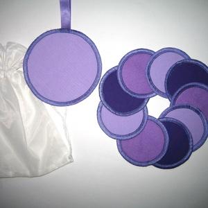 Sminklemosó korongok mosható-nowaste Lila 3 árnyalata, Szépségápolás, Arcápolás, Arctisztító korong, Varrás, Meska