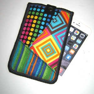 Kiemelős telefontok mobiltok iPhone 12 mini-hez, Táska & Tok, Pénztárca & Más tok, Telefontok, Varrás, Patchwork, foltvarrás, Meska