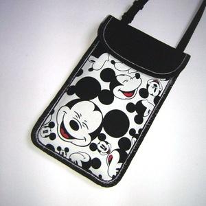 Telefontok állítható pántos mobil tok  Mickey kistáska közepes méretű telefonokhoz, Táska & Tok, Pénztárca & Más tok, Telefontok, Varrás, Meska