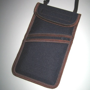 Vízálló zsebes mobiltok nagy méretű telefonokhoz  állítható pántos kistáska 2az1ben Sőtétkék-Barna, Táska & Tok, Pénztárca & Más tok, Telefontok, Varrás, Meska