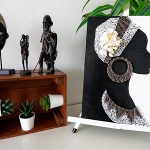 Afrikai nő - String art (ModernStringArt) - Meska.hu