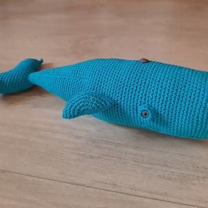 Kék Bálna - horgolt játék, Játék & Gyerek, Plüssállat & Játékfigura, Horgolás, Békésen szeli az óceán habjait ez a kék bálna és örömmel csatlakozna Hozzád!\n\nPuha pamutfonalból hor..., Meska