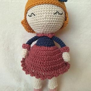 Emma-  horgolt baba, Baba, Baba & babaház, Játék & Gyerek, Horgolás, Emma baba Manuska Dolls Handmade mintája alapján készült amigurumi technikával, 100% pamut fonalból...., Meska