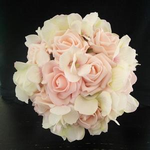 Habrózsa hortenzia menyasszonyi csokor , Esküvő, Menyasszonyi- és dobócsokor, Virágkötés, Meska