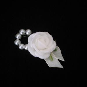 Kicsi rózsás bokréta, Esküvő, Ékszer, Virágkötés, Meska