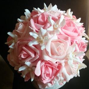 Tónusok csokor, Esküvő, Menyasszonyi- és dobócsokor, Virágkötés, Meska