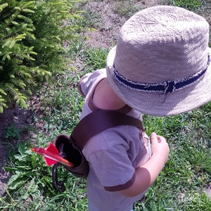 Háti gyermek tegez Sárkány motívummal Barna színben  (MogorLeather) - Meska.hu