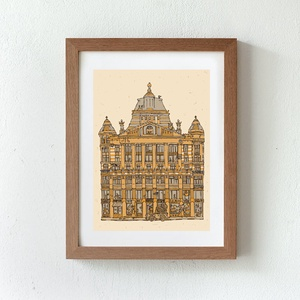 Anker palota - számozott nyomat, illusztráció, print, A5 méretben (MohaVilaga) - Meska.hu
