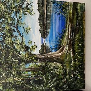 Akril tájkép, Akril, Festmény, Művészet, Festészet, Saját alkotás, lakkozva, feszített vászonra festve. 40*40 cm, Meska