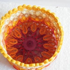 Narancsvirág bonbontartó, asztali dísz (Molma) - Meska.hu