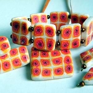 Érett rózsák ékszerszett medál, fülbevaló, bross és gyűrű, Ékszer, Ékszerszett, Ékszerkészítés, Gyurma, Meska