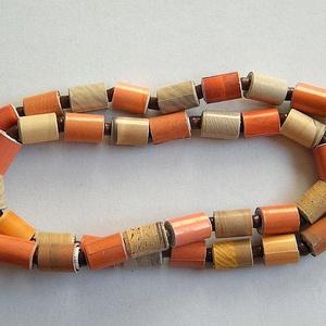 Sivatag nyaklánc újrahasznosított papírból - ékszer - nyaklánc - medál nélküli nyaklánc - Meska.hu