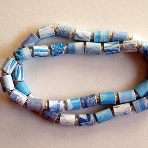 Jégkorszak nyaklánc újrahasznosított papírból, Ékszer, Medál nélküli nyaklánc, Nyaklánc, Ékszerkészítés, Újrahasznosított alapanyagból készült termékek, Meska