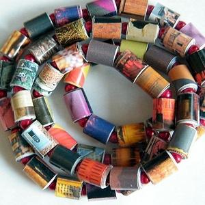Titkos randevú nyaklánc újrahasznosított papírból, Ékszer, Medál nélküli nyaklánc, Nyaklánc, Ékszerkészítés, Újrahasznosított alapanyagból készült termékek, Meska