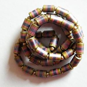 Színjátszó nyaklánc-2 újrahasznosított papírból, Ékszer, Medál nélküli nyaklánc, Nyaklánc, Ékszerkészítés, Újrahasznosított alapanyagból készült termékek, Meska