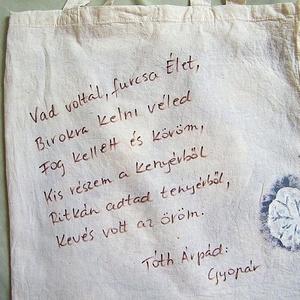 Bíbor alkonyat textilszatyor - Meska.hu