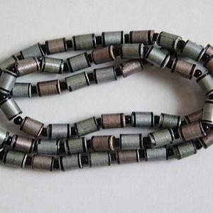 Szolid árnyalatok 2. nyaklánc újrahasznosított papírból, Ékszer, Nyaklánc, Hosszú nyaklánc, Ékszerkészítés, Újrahasznosított alapanyagból készült termékek, Meska