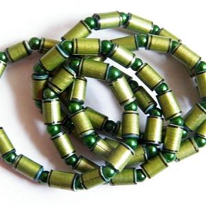 Napfényes erdő nyaklánc újrahasznosított papírból, Ékszer, Nyaklánc, Medál nélküli nyaklánc, Ékszerkészítés, Újrahasznosított alapanyagból készült termékek, Meska