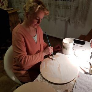 Díszes kézzel készített falióra - otthon & lakás - dekoráció - falióra & óra - Meska.hu